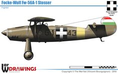 Focke-Wulf FW Stosser of Hungarian Fighter Squadron Focke Wulf, Ww2 Planes, Ww2 Aircraft, Military Equipment, Axis Powers, Cutaway, Luftwaffe, Hungary, Airplanes