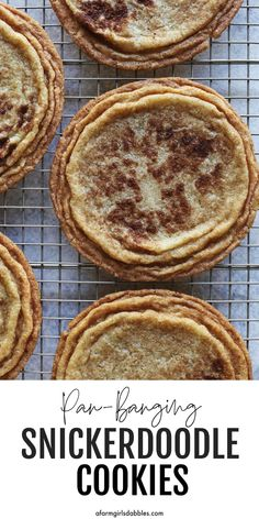 This Pan-Banging Snickerdoodle Cookies recipe is a fun twist on a classic. The GIANT snickerdoodles have soft, chewy centers and crispy, rippled edges. Absolutely delightful! Recipe from 100 Cookies book by Sarah Kieffer. #snickerdoodle #snickerdoodles #panbanging #bangonapan #cookies