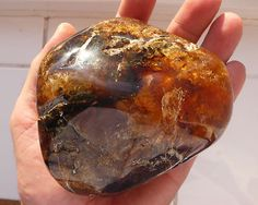 Polished Orange Red Dominican Amber Stone 330 grams!