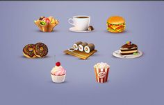 <p>A detailed food icon set for any designer or developer that is working on a new restaurant website or something in the area of tasty foods and drinks. Yummmy!</p>