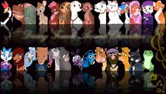 Disney Female Animal Characters.