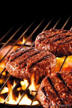 Bbq Burger, Hamburger Recipes, Beef Recipes, Cooking Recipes, Food Menu, Bbq Food, Creative Food, Food Pictures, Food Photography