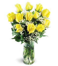 Check out this #beautiful #floral arrangement: Classic Yellow Roses!