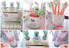 Shabby chic birthday party! See more party ideas at CatchMyParty.com!