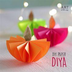 DIY Paper Diwali Diya | Follow @ventunoart #diy #papercraft #craft #handmade #diwali #craft #crafting #craftideas #diyvideos #diytutorial…