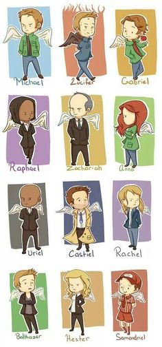 Supernatural angels. This is great, but Luci should not be surrounded by fire, remember he actually is quite cold