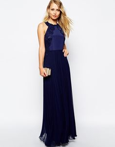 gorgeous navy dress if you are splashing out on the #bridesmaids!