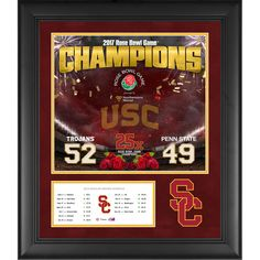 "USC Trojans Fanatics Authentic Framed 20"" x 24"" 2017 Rose Bowl Champions Collage - $129.99"