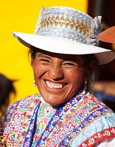 Woman from Colca Canyon (one of the largest canyons in the world), Peru