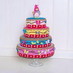 Onwijs mooie taart, helemaal gehaakt!!
