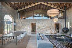 algehele sfeer, houten plafonds