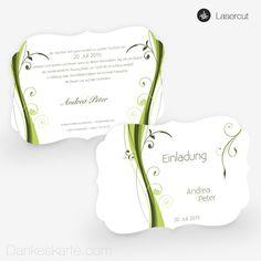 ...  (Klappkarte in Grun) von Dankeskarte.com  Hochzeit  Pinterest