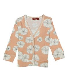 Another great find on #zulily! Pink & Rose Floral Snap-Up Cardigan - Infant by Milkbarn #zulilyfinds