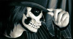 Hello Mr. Secrets by *ParenthesisX on deviantART... love the make up, my inspiration for my Halloween makeup.