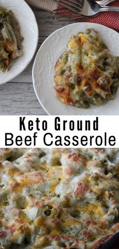 Diet Recipes This Keto Ground Beef Casserole is the perfect comfort dish for these long cold months. Easy to make and hearty, you'll love every single bite. Ketogenic Recipes, Low Carb Recipes, Diet Recipes, Healthy Recipes, Ketogenic Diet, Keto Foods, Easy Recipes, Healthy Food, Chicken Recipes