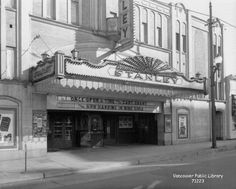 """Stanley Theatre VPL Accession Number: 71223 Date: September 1944 Photographer / Studio: King Studio Content: Playing at the theatre: """"Once Upon a Time"""" with Cary Grant also Ann Harding in """"Nine Girls"""" Vancouver Bc Canada, Iconic Photos, The Best Is Yet To Come, Photographic Studio, My Town, Old Pictures, Historical Photos, Once Upon A Time, British Columbia"""