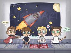 The boys trip to NASA xD #DragMeDown <3