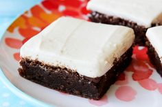 Fudgy Nutella Brownies with Cream Cheese Frosting....mmmm. @Nanette Wiser