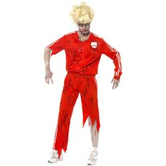 Zombie Sports Teacher Costume, Top With Latex Baseball, Trousers and Whistle. http://www.novelties-direct.co.uk/Zombie-Sports-Teacher-Costume-Top-With-Latex-Baseball-Trousers-and-Whistle.html