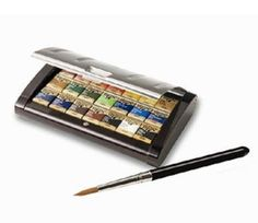 Holbein Artist's Pan Color 21 Colors Set PN695 Echizen lacquer case FreeShipping #Holbein
