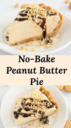 No-Bake Peanut Butter Pie Quick & Easy No Bake Peanut Pie Recipe with a Nutter Butter or Oreo crust. Tastes and looks like it took way more time than it does! Peanut Pie Recipe, Easy Peanut Butter Pie, Peanut Butter Desserts, Peanut Butter Cheesecake, Köstliche Desserts, Nutter Butter, Delicious Desserts, Dessert Recipes, Peanutbutter Pie No Bake