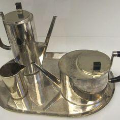 servizio per caffè-tè von Wilhelm Wagenfeld, 1924
