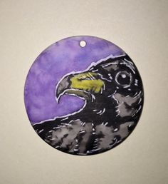 Crow Pendant by CuriosityCrate6 on Etsy https://www.etsy.com/listing/255304067/crow-pendant
