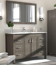 Converse 48 inch Bathroom Vanity French Gray Finish - open web site to view vanity selections