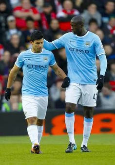 Sergio Agüero (Manchester City) and Yaya Touré (Manchester City FC, 2010-..., 135 apps, 38 goals)