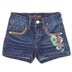 Decorated Denim Shorts (2T-4T)