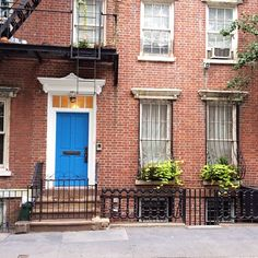 Warby Parker blue in New York's West Village.