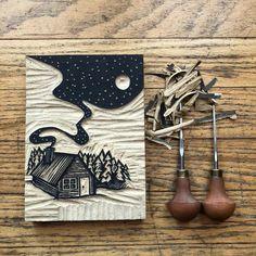 Stamp Printing, Screen Printing, Linocut Prints, Art Prints, Block Prints, Stencil, Lino Art, Stamp Carving, Japon Illustration