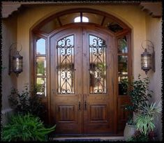 In-My-Dream-House/ arched front door, unique front doors, exterior fron Unique Front Doors, Best Front Doors, Wood Front Doors, The Doors, Panel Doors, Arched Front Door, House Entrance, Entrance Doors, Porch Doors