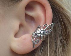 Schmetterling im Flug - Ohr Cuff - Sterling Silber