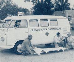 Vintage Ambulance VW B&W #volkswagen bus #vwbus   pinned by www.wfpcc.com