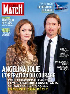 Paris Match n° 3340 du 23 mai 2013, édition iPad. Anvec Angelina Jolie accompagnée de Brad Pitt en couverture. Le récit exclusif de la star sur son opération pour échapper au cancer.