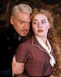 Kenneth Branagh as Hamlet and Kate Winslet as Ophelia in Kenneth Branagh's Hamlet.