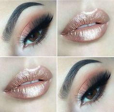 Rose Gold Sheen - Out of This World Metallic Makeup Looks - Photos