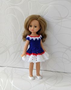 Clothes for mini dolls Paola Reina, doll 8,27 inch/21cm crochet dress for doll clothing Barbie Clothes, Barbie Dolls, Doll Shop, Dress With Cardigan, Handmade Dresses, Crochet Cardigan, Dress Making, Harajuku, Curvy