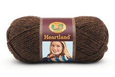 HEARTLAND- SEQUOIA - This sensationally soft, premium acrylic comes in heathered and tweedy shades inspired by the natural beauty of the American landscape.  The subtle shades of this yarn suggest landmarks like the Redwood Forest, the Everglades, and Yosemite National Park.  Made in America, Heartland is an easy-care yarn that is perfect for garments, afghans and accessories.