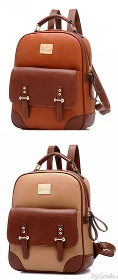 Which color do you like? New British Style Vintage Leather Backpack #brown #vintage #leather #Backpack #school #college #bag