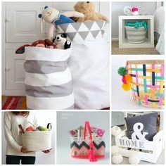 Cestas y cajas para poner orden en tu casa, además las puedes hacer tu mismo sin mucho problema.