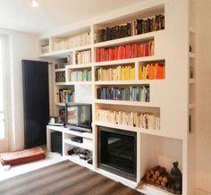 Idee pareti soggiorno in cartongesso - Libreria soggiorno in cartongesso