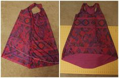 Cute tank pattern.How to Sew a Women's High-Low Racerback Tunic (minus the cinch waist for me)