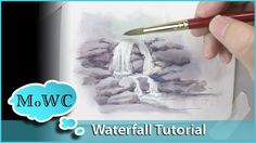 A simple watercolor waterfall tutorial. Moving water such as this little waterfall is the easiest form of water to paint. I'll take you through the basic ste...