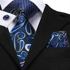 min-height: This tie silk tie is an opulent addition to your formal wardrobe and would also make a stylish gift. This item's measurements are; -Width: Please dry clean only. Tie And Pocket Square, Pocket Squares, Beard Suit, Slim Fit Suits, Paisley Tie, Cufflink Set, Mens Silk Ties, African Men Fashion, Well Dressed Men