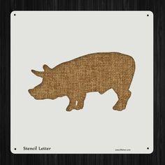 Pig 3 Style 2233 DIY Stencil Clear Plastic Acrylic Mylar Reusable