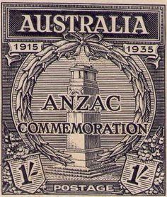 Australia 1935 - Anniversary of Gallipoli Landing Australian Painting, Commemorative Stamps, Rare Stamps, Australia Map, Anzac Day, Mail Art, Stamp Collecting, Tasmania, My Stamp
