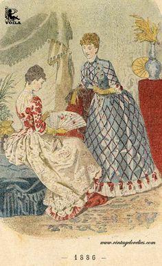 1886 Womens Fashion, Painting, Art, Victorian Era, Art Background, Painting Art, Kunst, Women's Fashion, Paintings