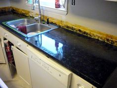 painted granite countertop